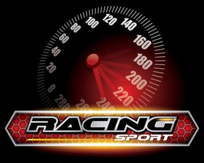 Fototapet RACING SPORT CONCEPT för Logo Design VEKTOR