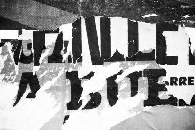 Fototapet Random bakgrund collage papper typografi struktur på väggen