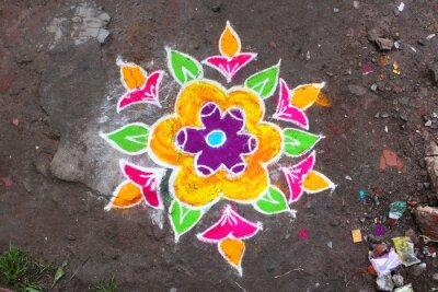 Fototapet Rangoli / Munnar (Kerala / Inde