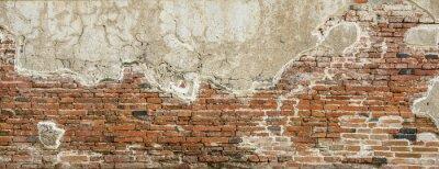 Fototapet Red brick wall texture background,brick wall texture for for interior or exterior design backdrop,vintage tone.