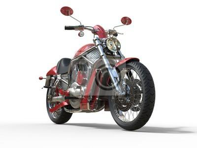 Fototapet Red Roadster cykel - Framifrån