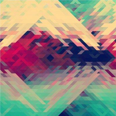 Fototapet Regnbågens färger triangulär vektor mönster