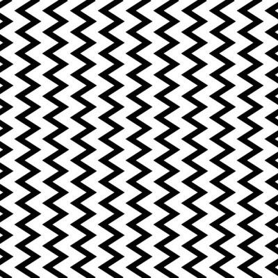 Fototapet Repeterbar vågig, sicksack vertikala linjerna i parallellt sätt.