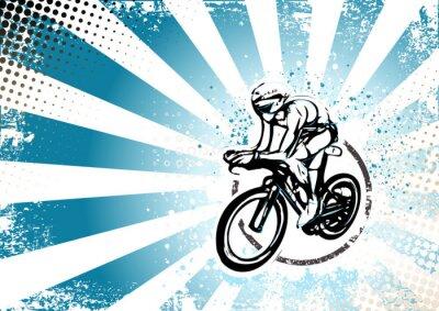 Fototapet retro cykling affisch bakgrund