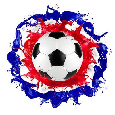 Fototapet retro fotboll fransmannen sjunker färgstänk