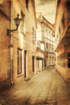 Fototapet Retrostil bilden av gamla europeiska street