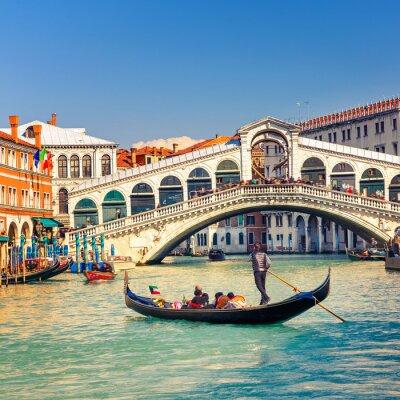 Fototapet Rialtobron i Venedig