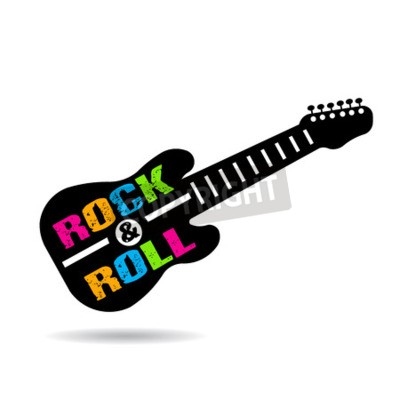Fototapet Rock and Roll gitarr