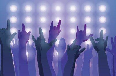 Fototapet Rockkonsert. Upp med händerna.