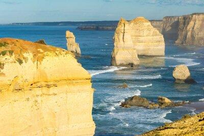 Fototapet Rocks av de tolv apostlarna längs Australiens kust
