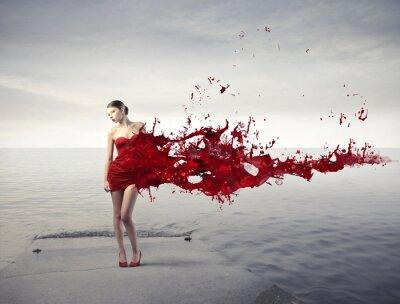 Fototapet röd skönhet