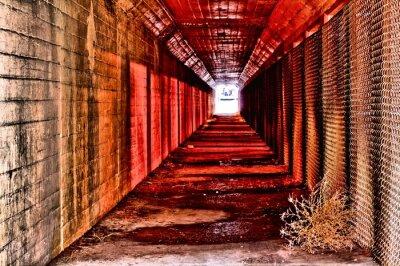 Fototapet röd tunnel