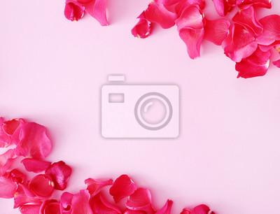 Fototapet röda kronblad