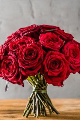 Fototapet röda rosor