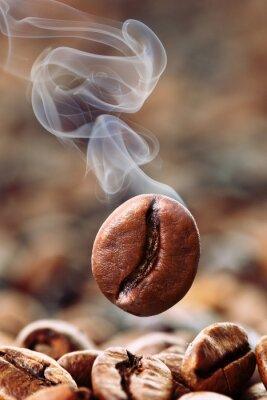 Fototapet rökiga kaffeböna