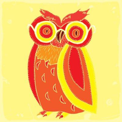 Fototapet rolig owl