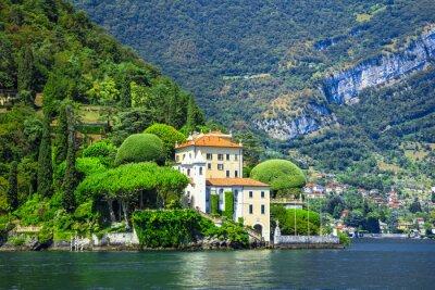 Fototapet romantiska Lago di Como, Villa del Balbianello