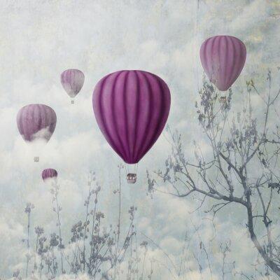 Fototapet rosa ballonger