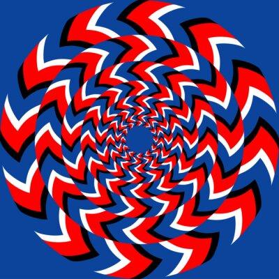 Fototapet Rotation effekt med optisk illusion effekt