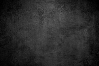Fototapet Rough Black wall slate texture rough background, dark concrete floor or old grunge background