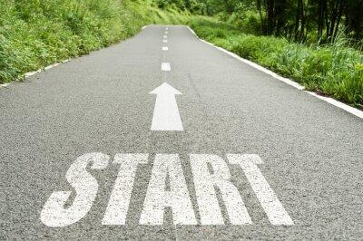 Fototapet route de Campagne koncept Start