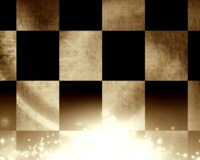 Fototapet Rutig racing flagga