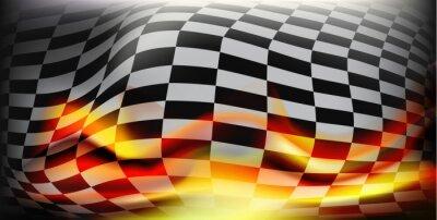 Fototapet rutig ras flagga. Racingflagga. Bakgrund rutig flagga för