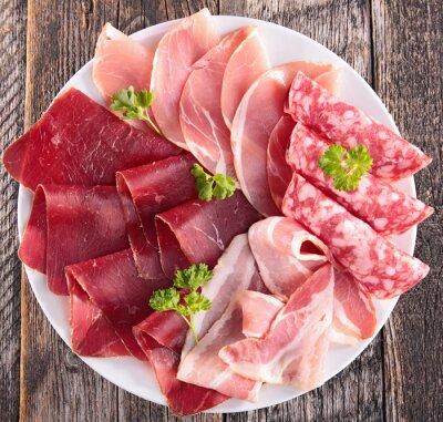Fototapet salami, bacon