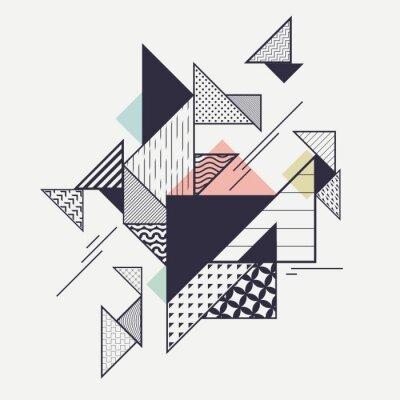 Fototapet Sammanfattning modern geometrisk komposition