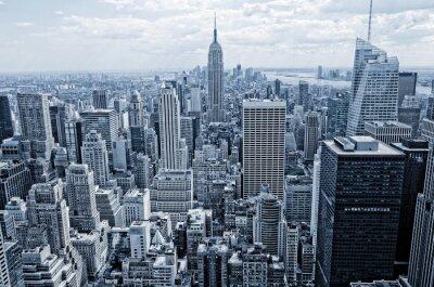 Fototapet Sammanfattning utsikt från höjden till Manhattan