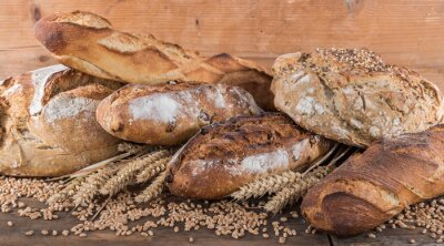 Fototapet Sammansättningen av olika bröd