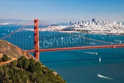 Fototapet San Francisco Panorama från San Francisco Bay