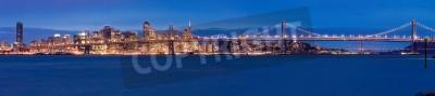 Fototapet San Francisco panorama på natten