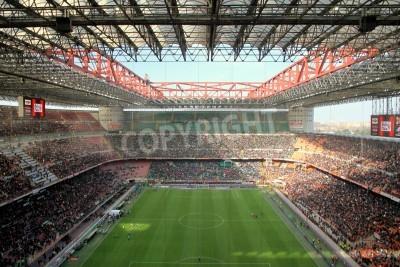 Fototapet San Siro stadion under en AC Milan fotbollsmatch