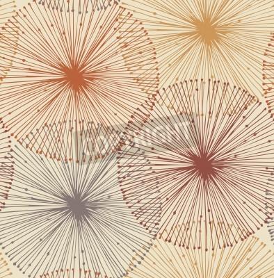 Fototapet Sandy och orange radiella element Sömlös bakgrund mönster, kort, textil, tapeter, webbsidor