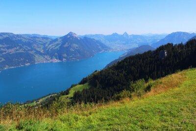 Fototapet Schweiz, berg och sjö
