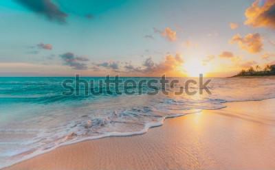 Fototapet sea beach blue sky sand sun daylight relaxation landscape viewpoint for design postcard and calendar in thailand