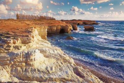 Fototapet Sea Caves. cypern