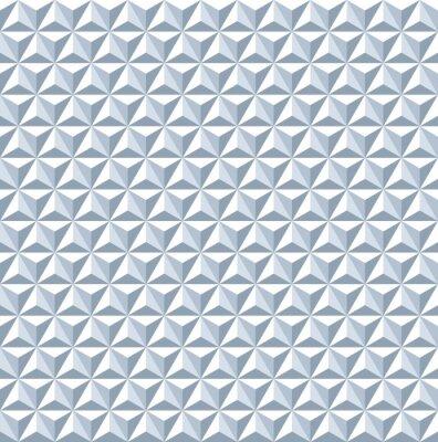 Fototapet Seamless 3d mönster. Geometrisk struktur.