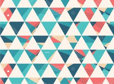 Fototapet Seamless abstrakt geometrisk form vektor mönster