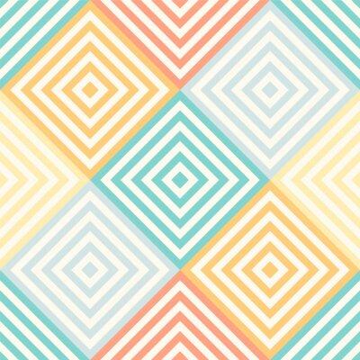 Fototapet Seamless abstrakt geometriskt mönster - romb