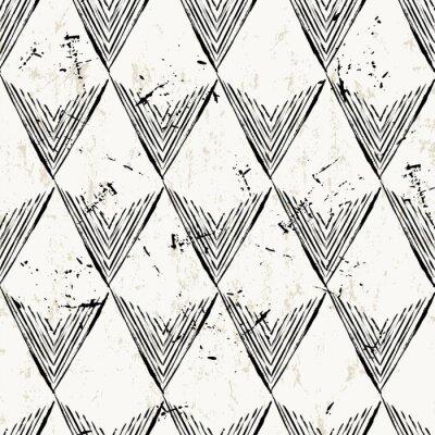 Fototapet seamless bakgrund, med trianglar, stroke och splashe