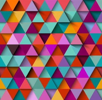 Fototapet Seamless bakgrundsmönster med trianglar och skuggor, eps10 vektor