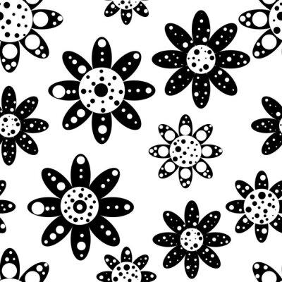 Fototapet Seamless blommiga mönster