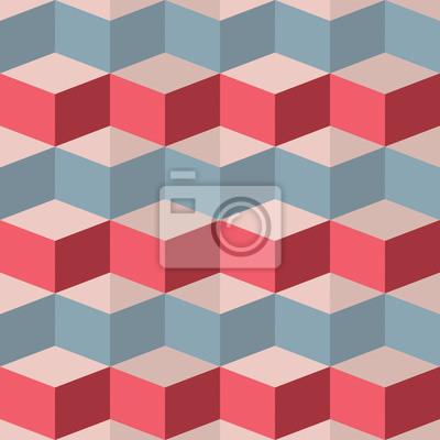 Fototapet Seamless geometriskt mönster hallon