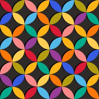 Fototapet Seamless geometriskt mönster med färgglada inslag