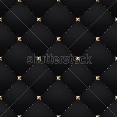 Fototapet Seamless luxury dark black pattern and background. Vector Illustration