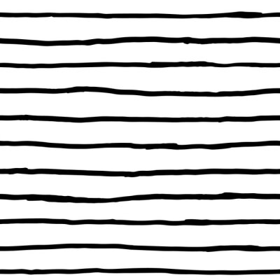 Fototapet Seamless mönster - bläck horisontella linjer
