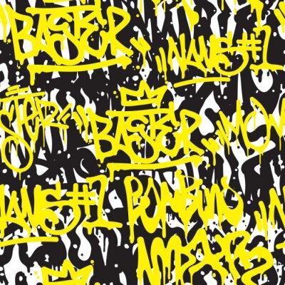 Fototapet Seamless mönster graffiti