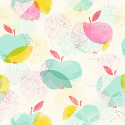 Fototapet seamless mönster med äpplen